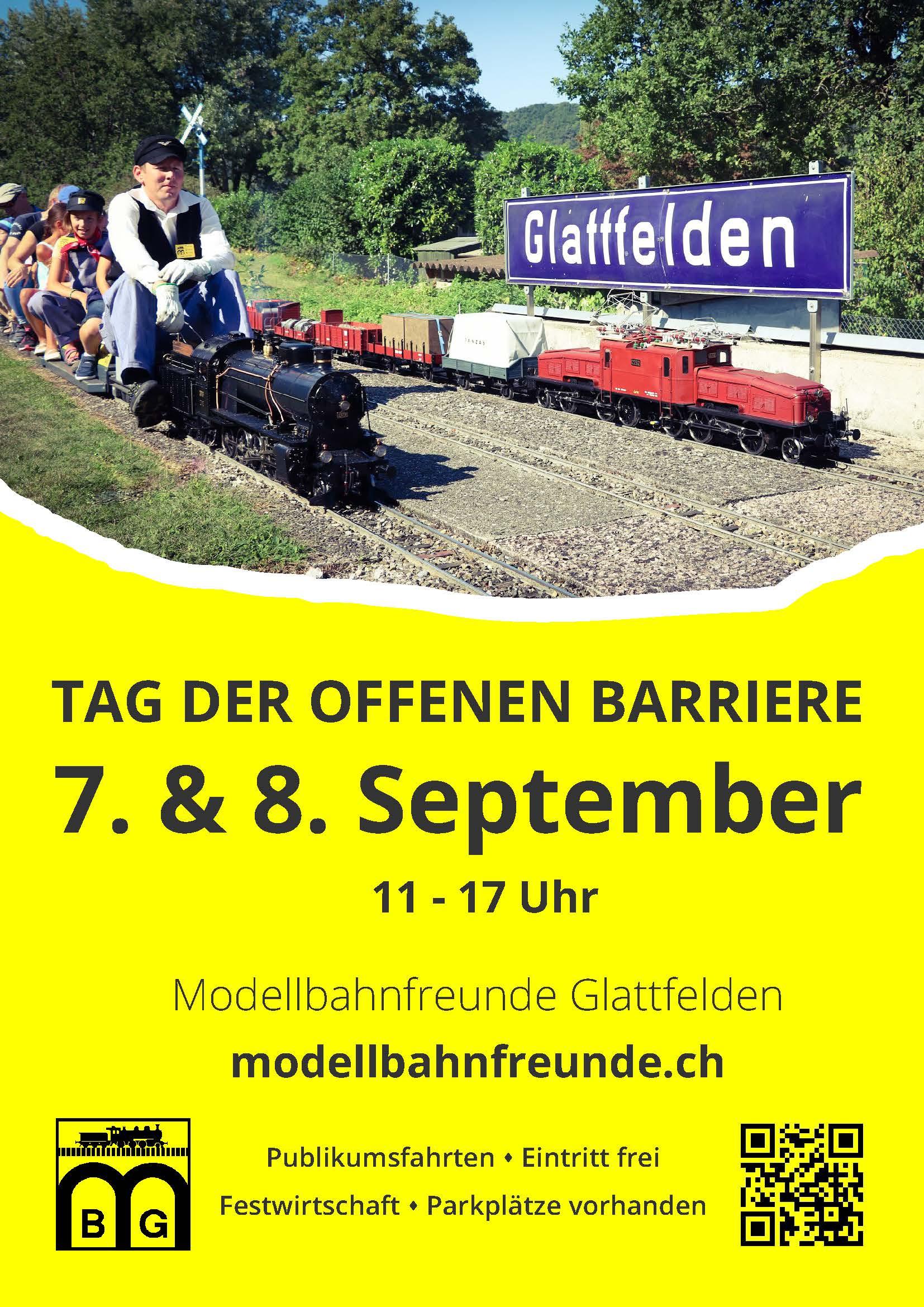 Einladung zum Tag der offenen Barriere in Glattfelden