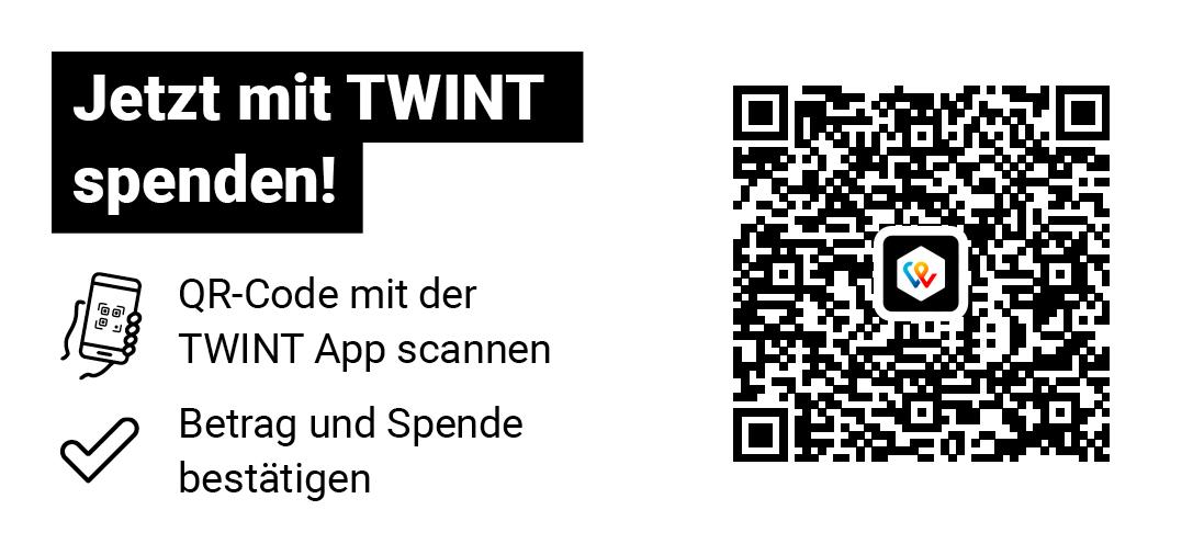 Jetzt mit Twint spenden!
