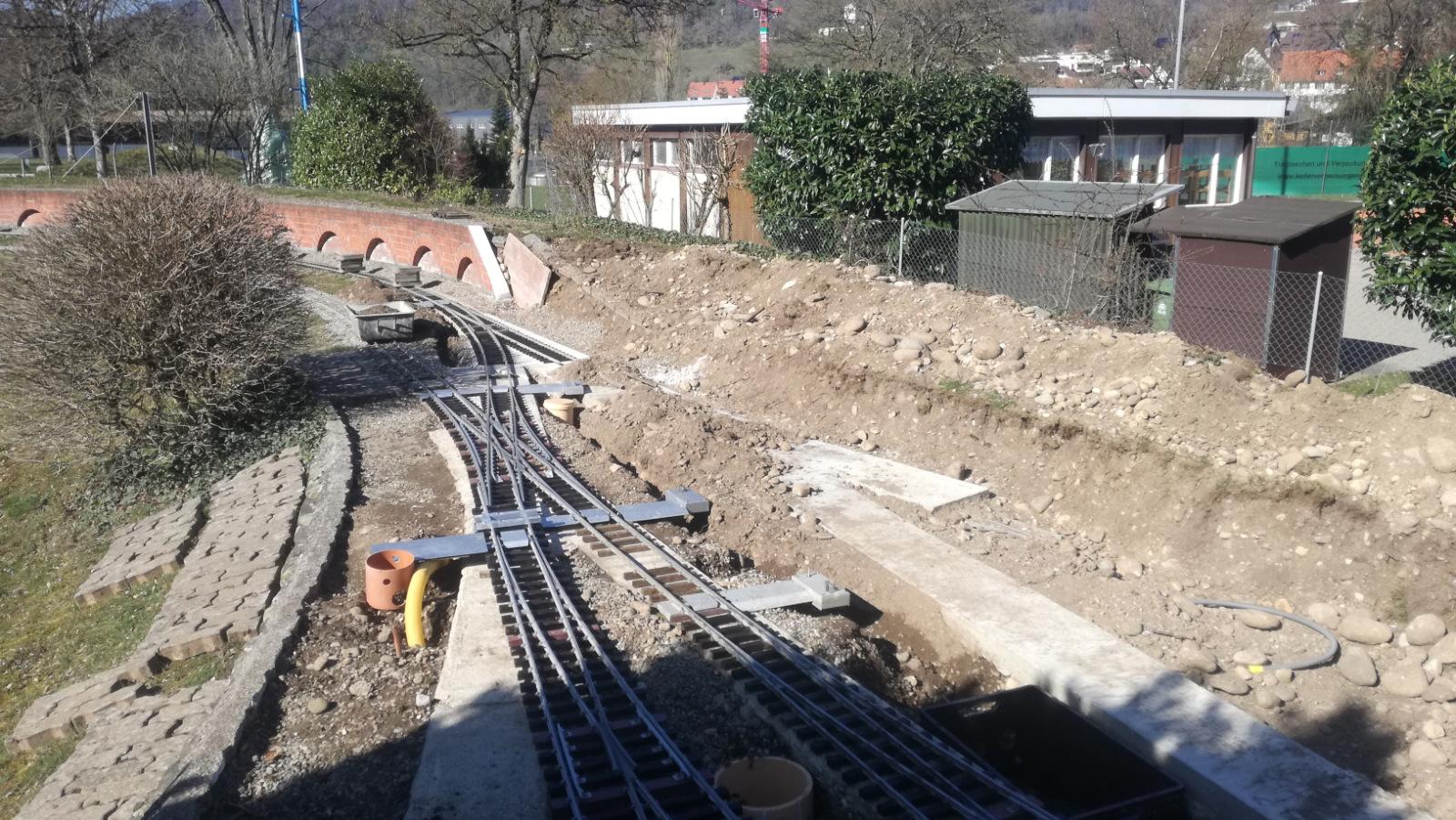 Umbau der Einfahrt in den Bahnhof Glattfelden